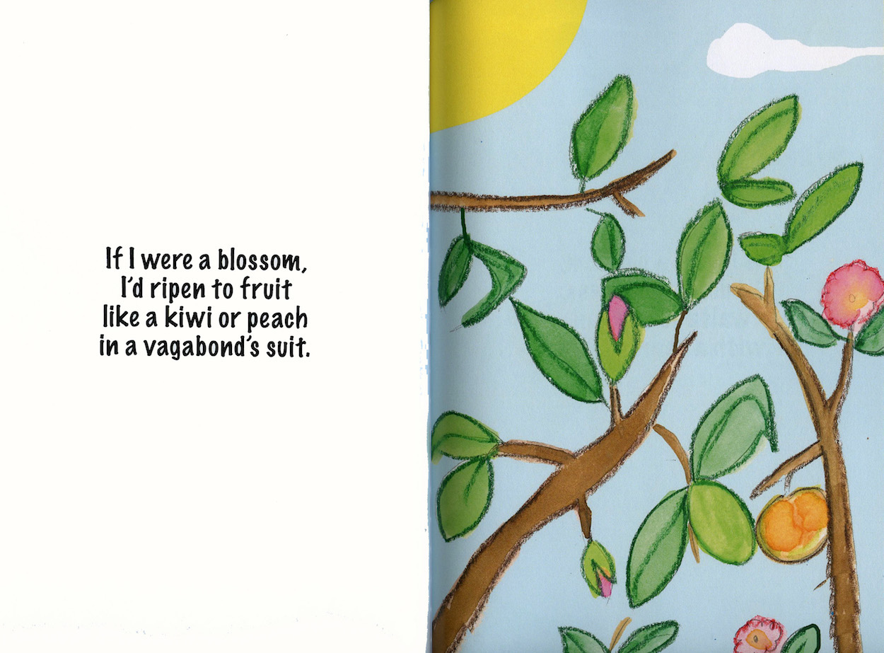 Kid's rhyme and illustration from If I Were A Flower by Richard and Mary Rensberry.
