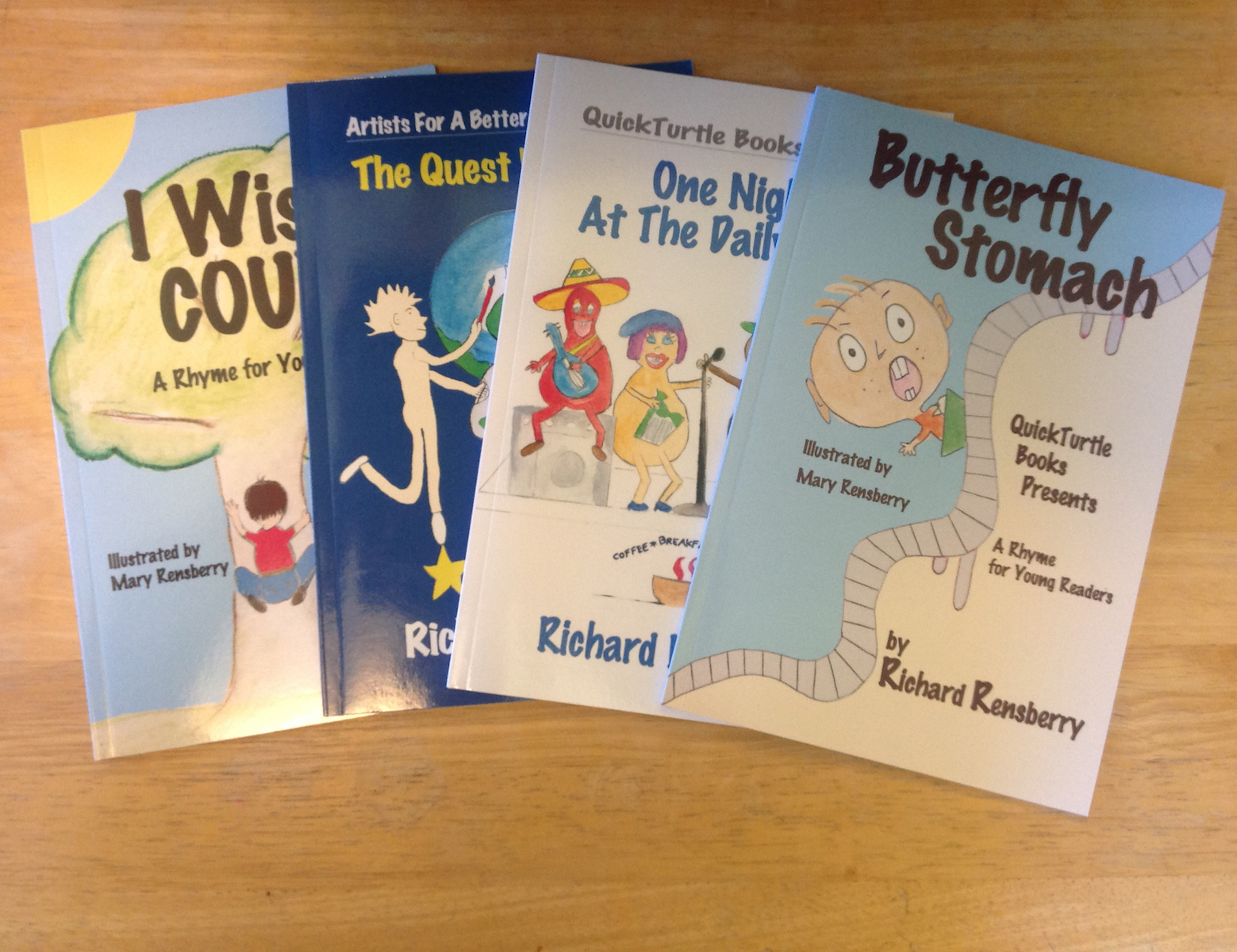 Books Make Booms brand building custom books written, illustrated and published by Richard and Mary Rensberry for Michigan businesses.