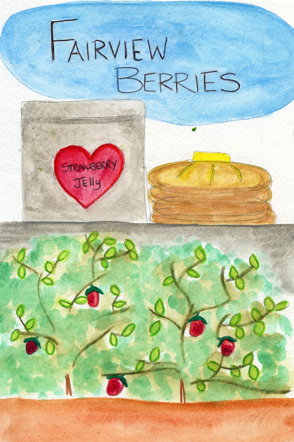 Custom book illustration from Berry Berry Sweet by Books Make Booms illustrator Mary Rensberry.
