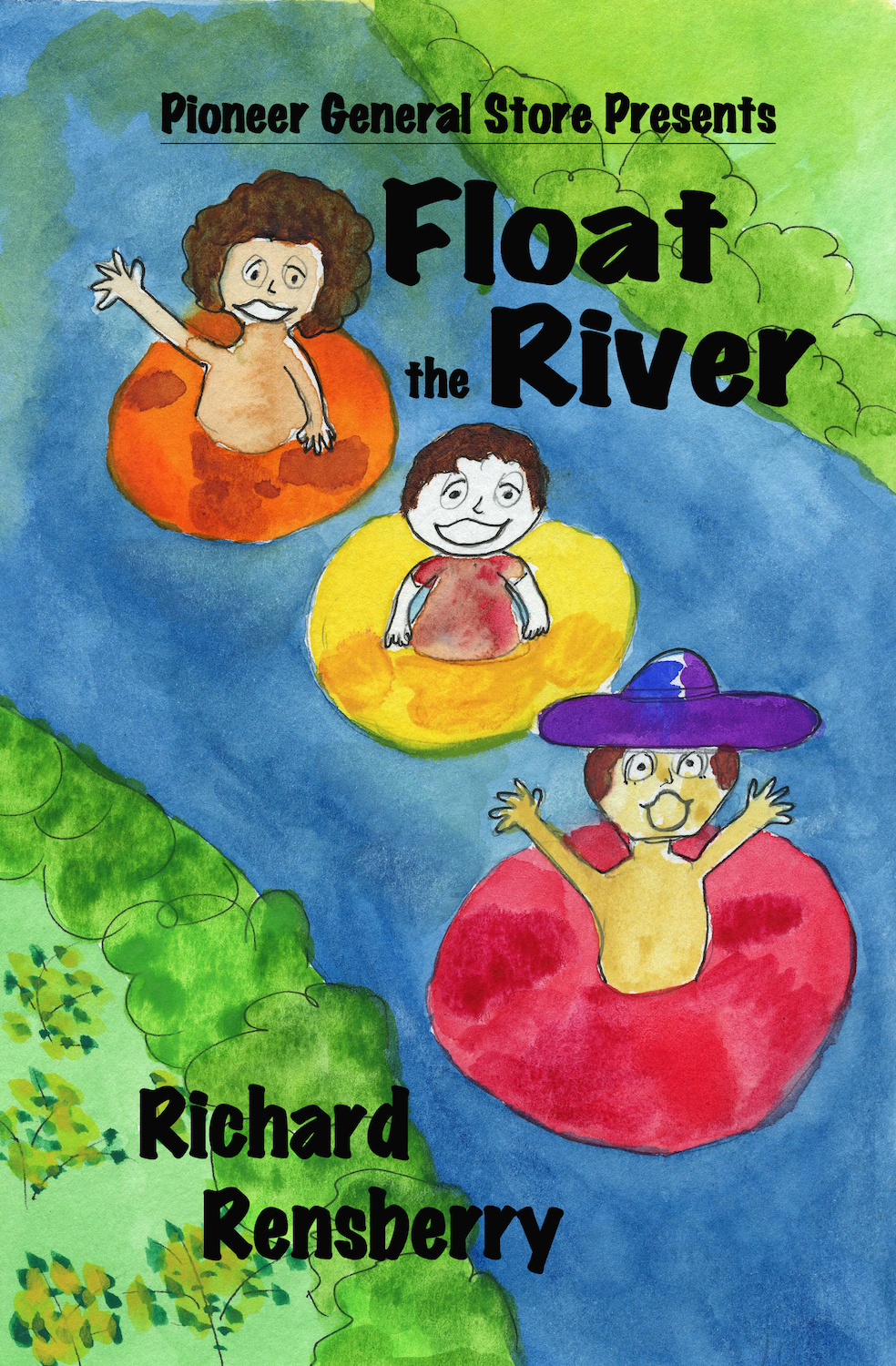 Custom book created for The Pioneer Store near the Au Sable River in Michigan.  Float The River by Books Make Booms author Richard Rensberry and illustrator Mary Rensberry.