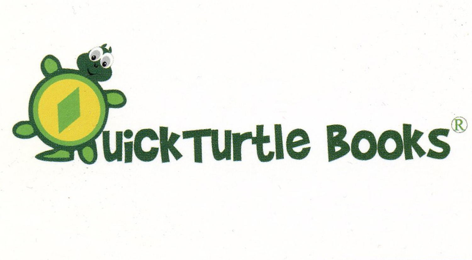 QuickTurtle books logo.  QuickTurtle Books is the publisher of all Books Make Booms custom books by Michigan authors Richard Rensberry and Mary Rensberry.