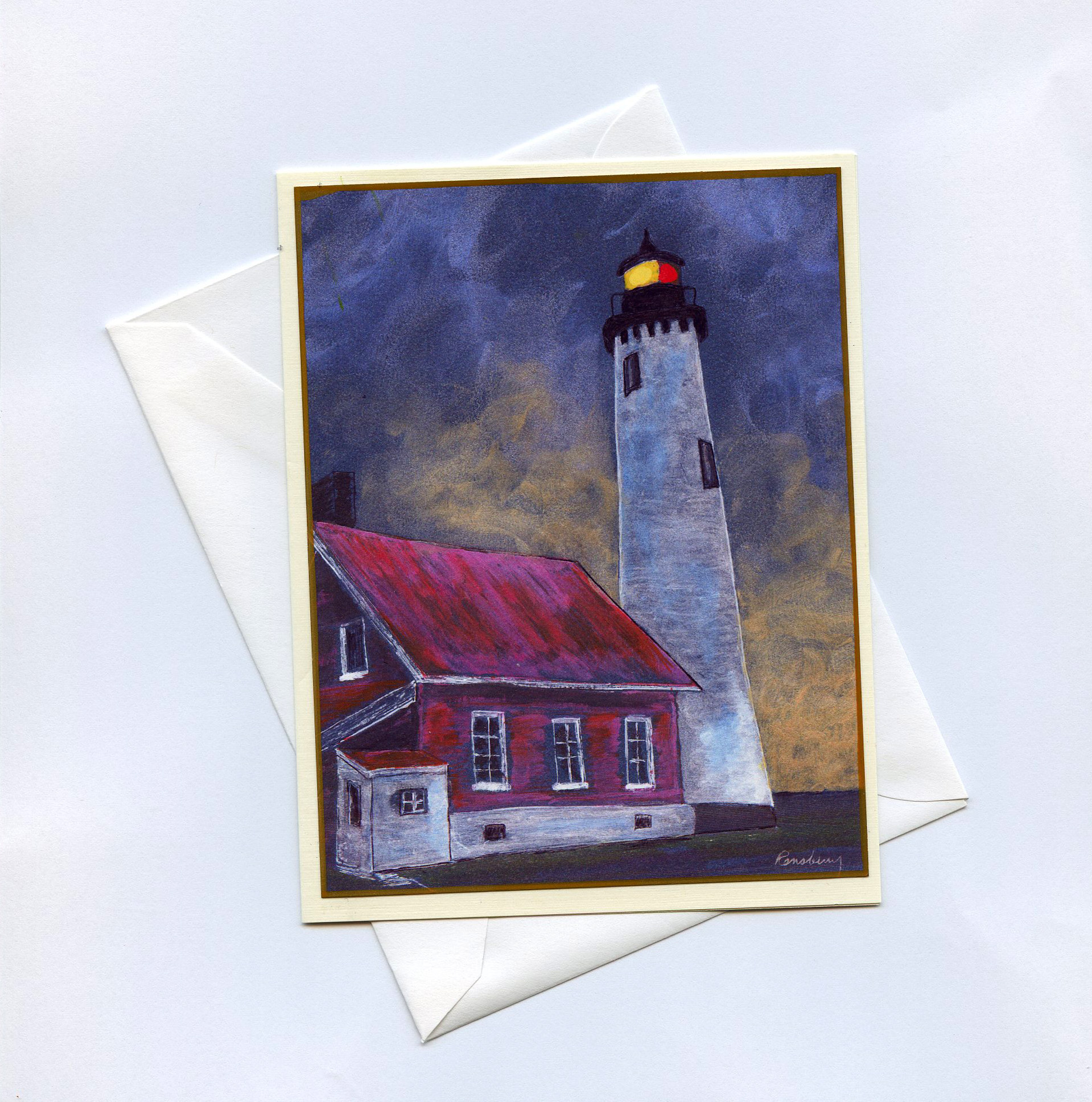 Blank Lighthouse Series Cards, created by Richard Rensberry
