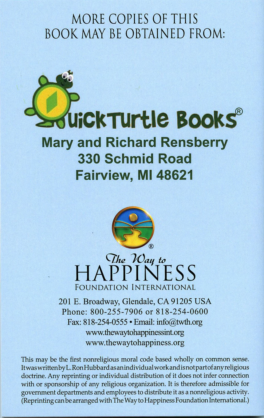Books Make Booms back cover to our custom book The Way To Happiness.