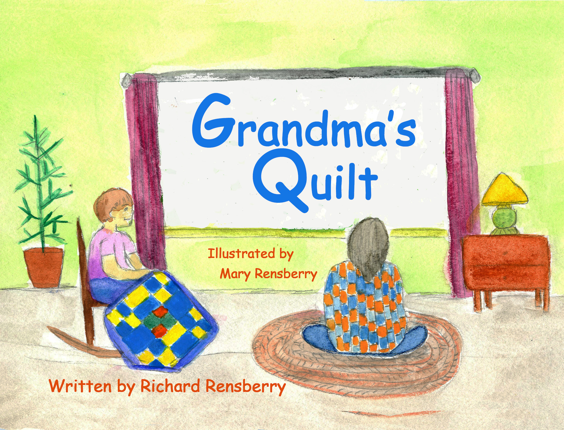 Books Make Booms custom book, Grandma's Quilt, written, illustrated and published by Michigan artists Richard and Mary Rensberry.
