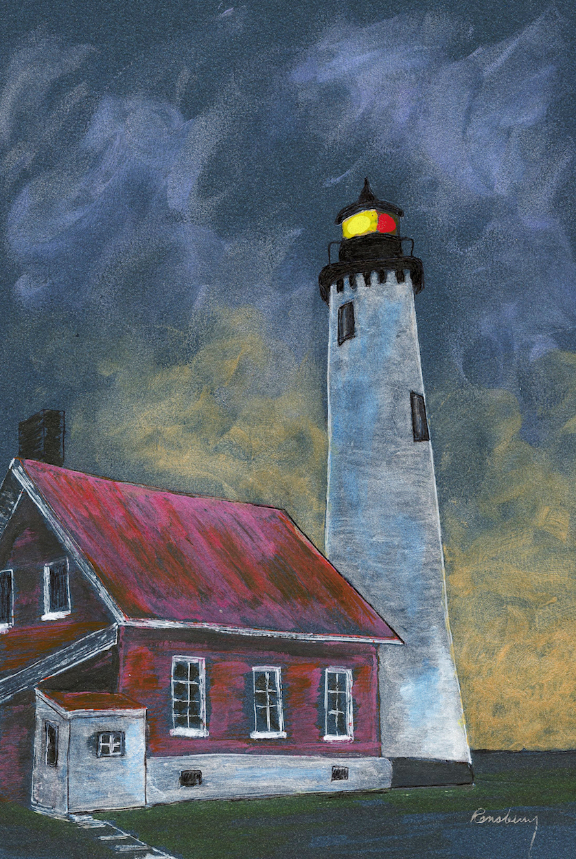 Tawas Point Lighthouse, located in Tawas Point State Park, is a fascinating attraction for Michigan lighthouse enthusiasts. Created by Richard Rensberry